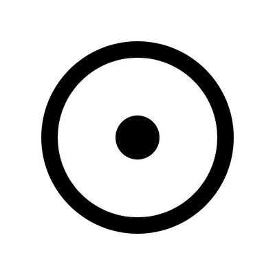 The esoteric sign of the Sun. Aether is generally depicted as a circle, and the Sun, being among the planets the one most associated with the spirit and it's progression, is considered the greatest of the heavenly Quintessence.